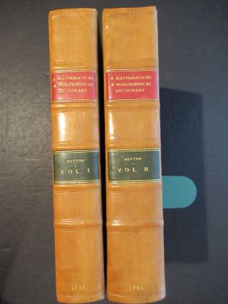 A MATHEMATICAL AND PHILOSOPHICAL DICTIONARY: CONTAINING AN EXPLANATION OF THE TERMS, AND AN ACCOUNT OF THE SEVERAL SUBJECTS, COMPRIZED UNDER THE HEADS MATHEMATICS, ASTRONOMY, AND PHILOSOPHY BOTH NATURAL AND EXPERIMENTAL... ALSO MEMOIRS OF THE LIVES AND WRITINGS OF THE MOST EMINENT AUTHORS, BOTH ANCIENT AND MODERN...