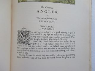 THE COMPLEAT ANGLER OR THE CONTEMPLATIVE MAN'S RECREATION, BEING A DISCOURSE OF FISH AND FISHING NOT UNWORTHY THE PERUSAL OF MOST ANGLERS.