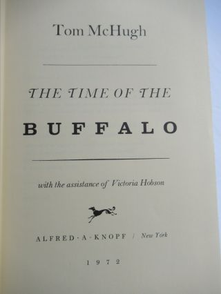THE TIME OF THE BUFFALO.