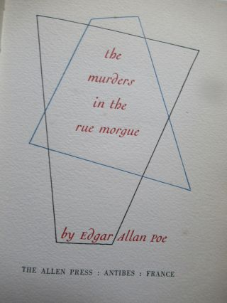 THE MURDERS IN THE RUE MORGUE.