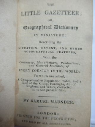 THE LITTLE GAZETTEER [with] THE LITTLE LEXICON [with] THE LITTLE LINGUIST.