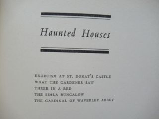LORD HALIFAX'S GHOST BOOK [with] FURTHER STORIES FROM LORD HALIFAX'S GHOST BOOK.