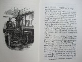 NOTES ON THE ERAGNY PRESS, AND A LETTER TO J. B. MANSON.