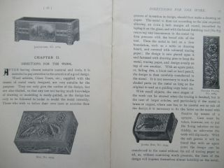 """RELIEF MODELLING IN PEWTER, BRASS, COPPER, ETC., A PRACTICAL MANUAL FOR AMATEURS... as well as A Chapter on the new """"Decco"""" or """"Sarazena"""" Work."""